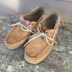 Sperry Girls Striped Intrepid Shoes